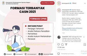 Formasi Terbanyak Favorite CPNS 2021