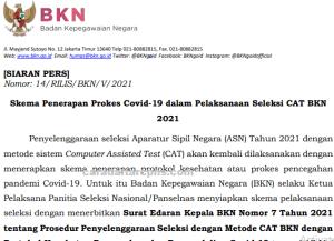Skema Pelaksanaan Seleksi CPNS CAT BKN 2021