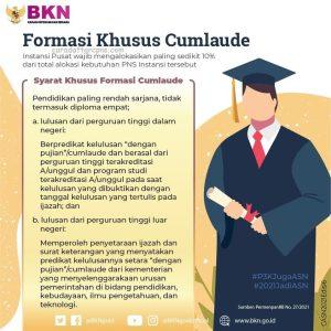 Formasi khusus CPNS 2021 Untuk Lulusan S1 Cumlaude