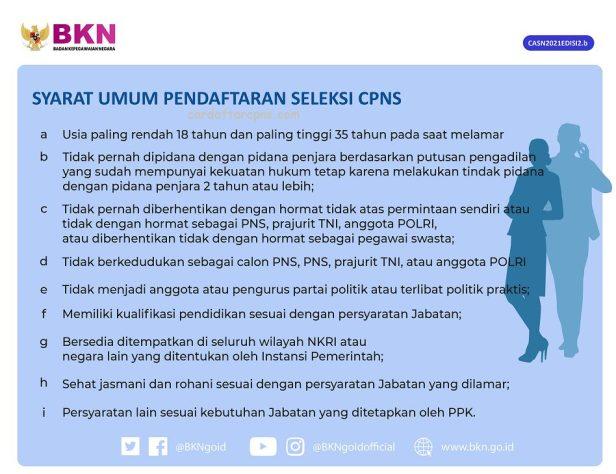 Ketentuan Umum Pendaftaran CPNS 2021