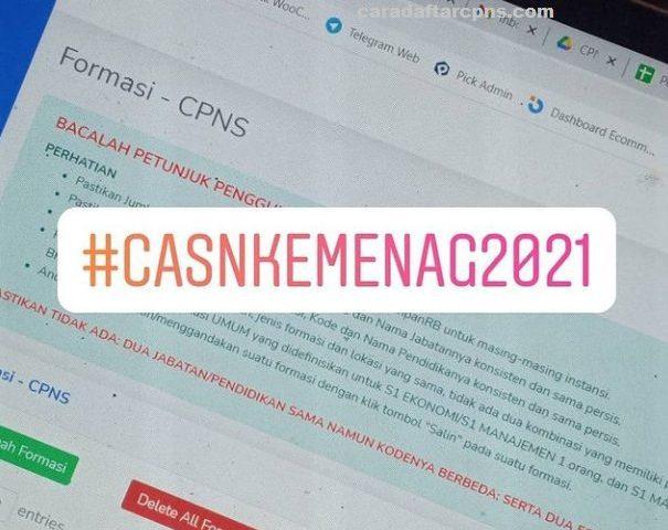Hasil Seleksi Administrasi CPNS Kemenag 2021