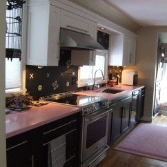 Pink Countertops Kitchen Chalkboard For News Caragreen