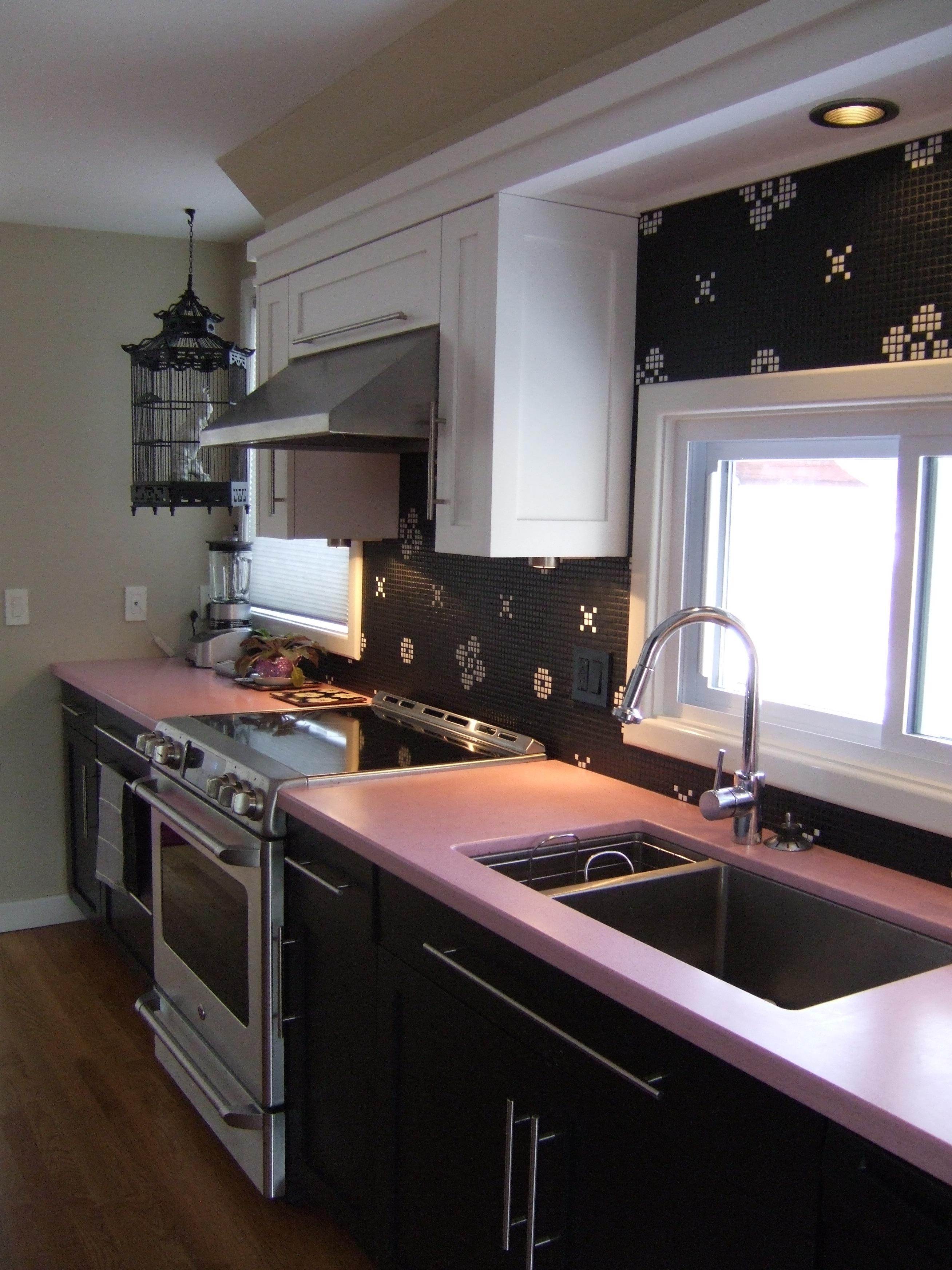 pink countertops kitchen farmhouse table news caragreen