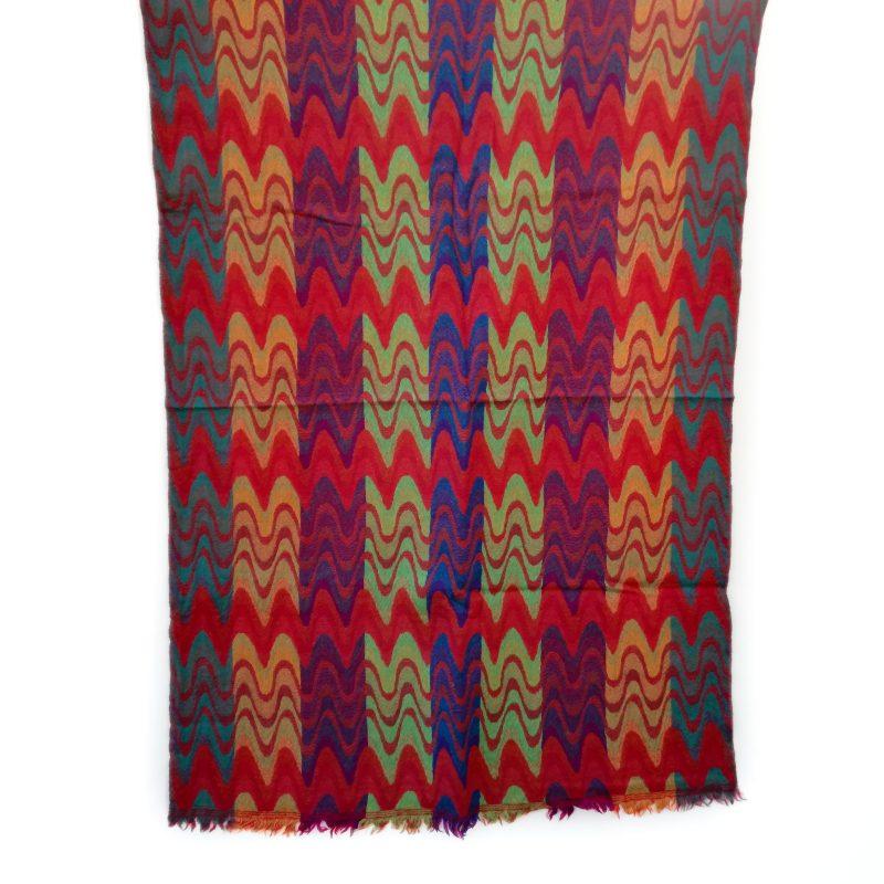 Autumn Chevrons Merino Wool Shawl