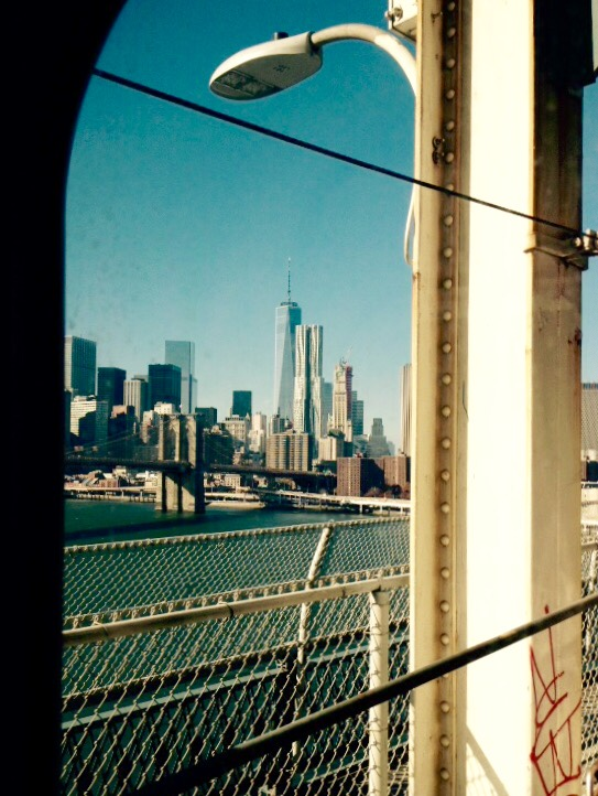 New-York - From Subway across manhattan Bridge - ©JCHERIX
