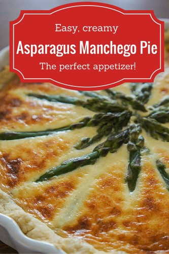 A delicious, easy asparagus pie that pairs the gentle flavor of fresh asparagus with lots and lots of creamy, gorgeous manchego cheese. The best cheesy asparagus pie recipe ever!