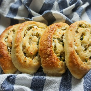 Feta Zucchini Swirls with Pink Peppercorns by Caramel Crew