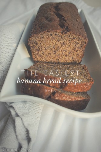 Easy banana bread recipe that can be customized by adding nuts, cranberries or even chocolate chips.