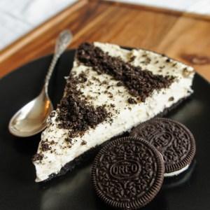 Oreo Persimmone no-bake cake