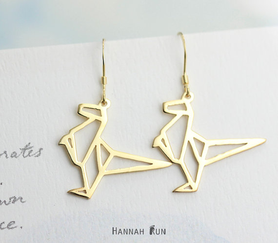 Origami style jewelry by HannahRun on Etsy