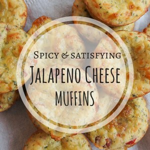 Savory jalapeno cheese muffins that perfectly balance spicy and cheesy. So simple to make & perfect for a quick fix when you've got the munchies for something spicy and satisfying.