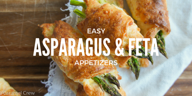 Easy appetizer recipe for asparagus & feta filled rolls. Quick to make and a perfect savory snack for any occasion!