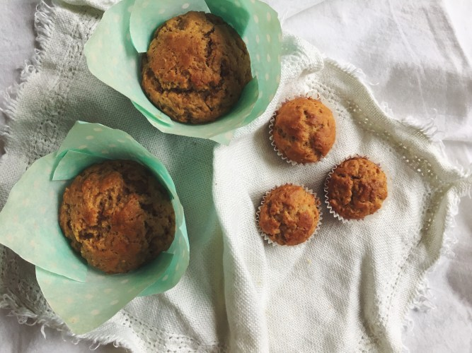 Fast peanut butter banana muffins recipe - delicious and fun to make, even with kids!