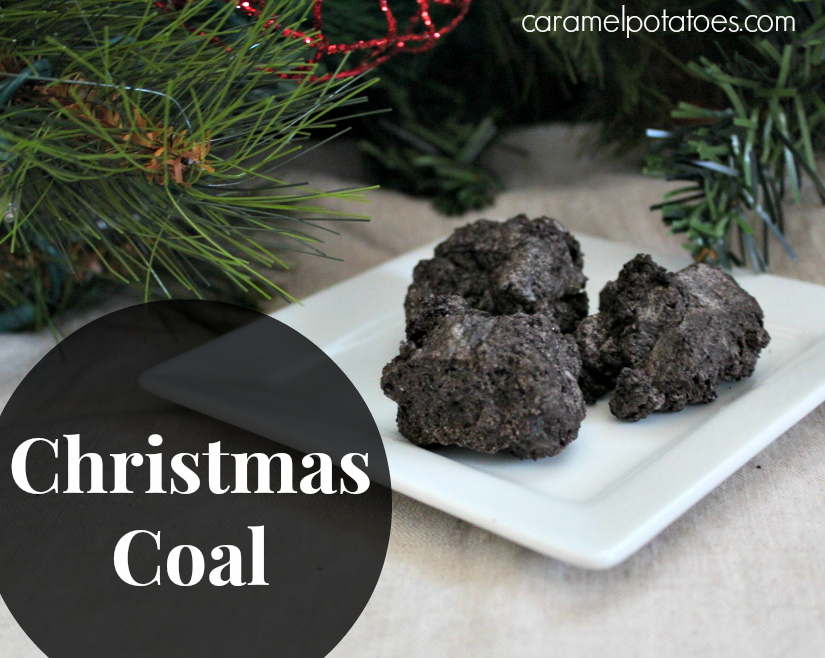 Caramel Potatoes Christmas Coal