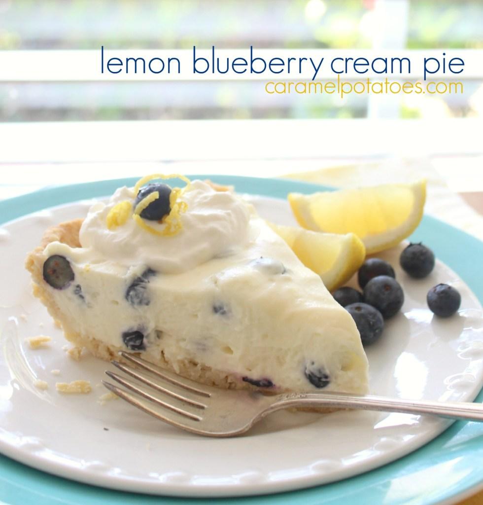 Lemon Blueberry Cream Pie