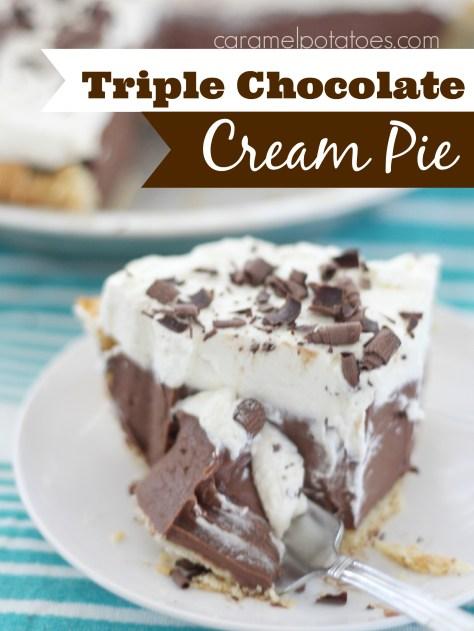 Triple Chocolate Cream Pie