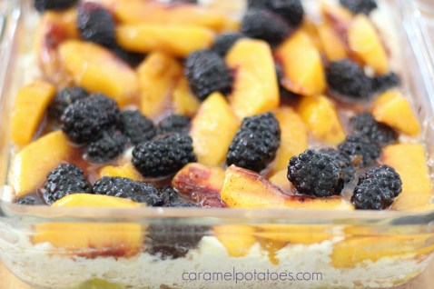 Blackberry Peach Buttermilk Cobbler