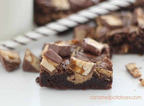 Peanut Butter and Snickers Brownies 142