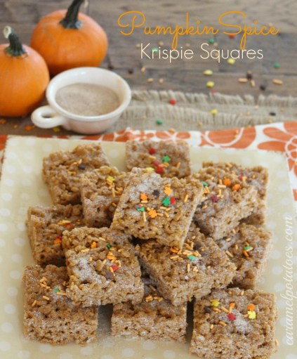 Pumpkin Spice Krispie Squares