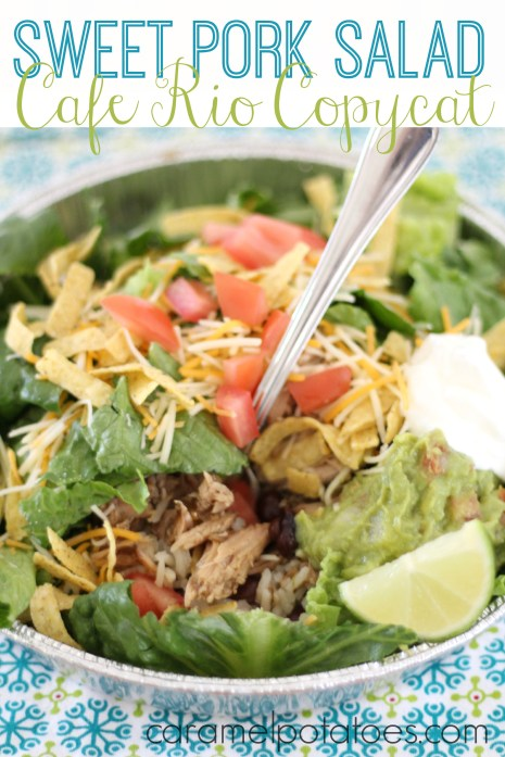 Cafe Rio Sweet Pork Salad 158