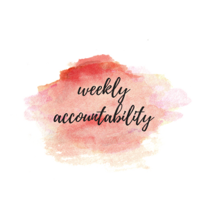 the writing temple weekly accountability
