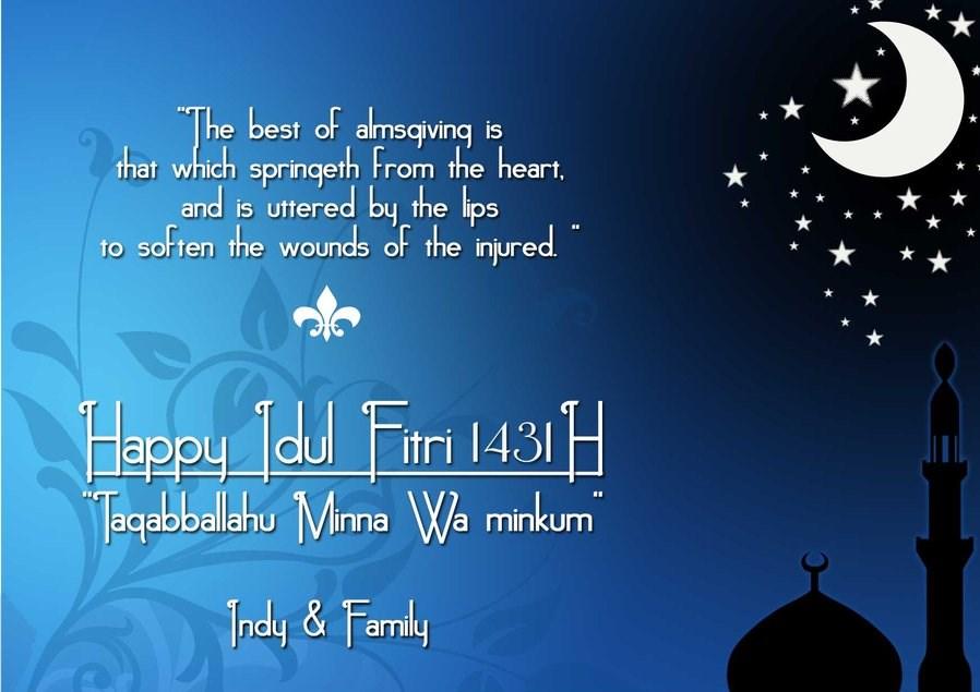 30 Kartu Ucapan Selamat Idul Fitri dalam Bahasa Inggris