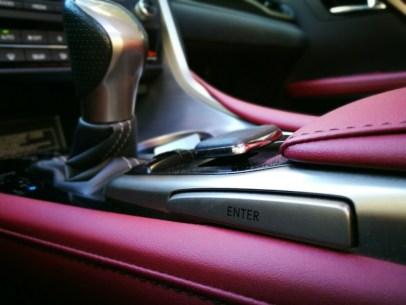 Detalle botón joystick Lexus Rx450h
