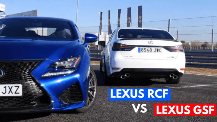 Lexus RC F vs Lexus GS F