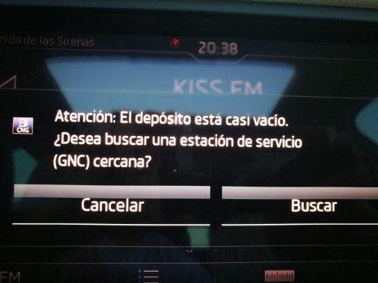 Aviso gasolineras GNC