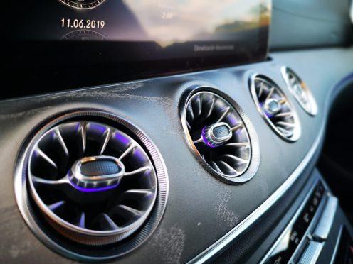 Detalles de los aireadores del Mercedes CLS