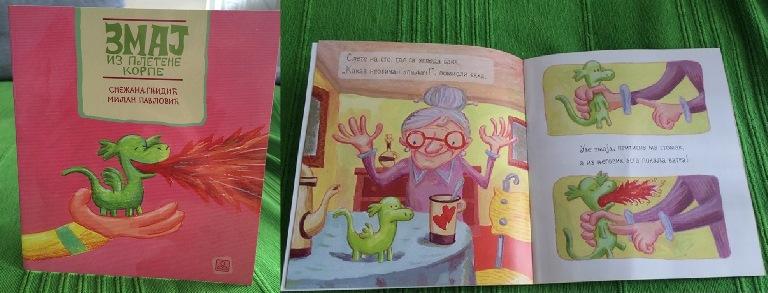 Zmaj iz pletene korpe - knjiga za decu