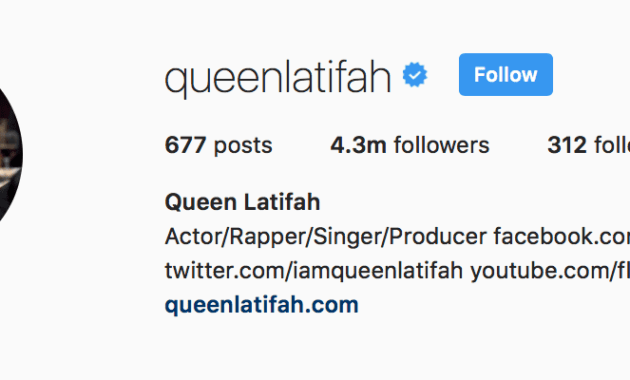 ratu latifah instagram bio
