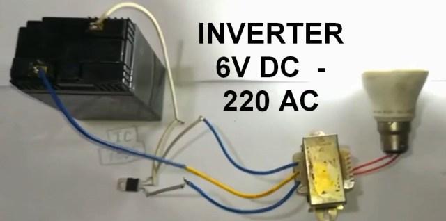 Cara Membuat Inverter DC 6 Volt ke AC 220 Volt Sederhana