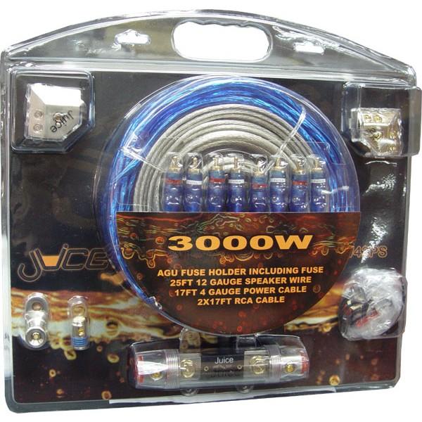 Juice Jw42ps 3000 Watts Dual Amplifier Wiring Kit Jw42ps From Juice