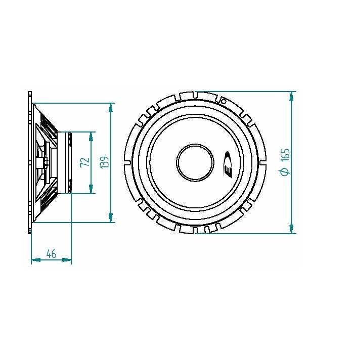SXE-1750S 280W 17cm 2-way component speaker system