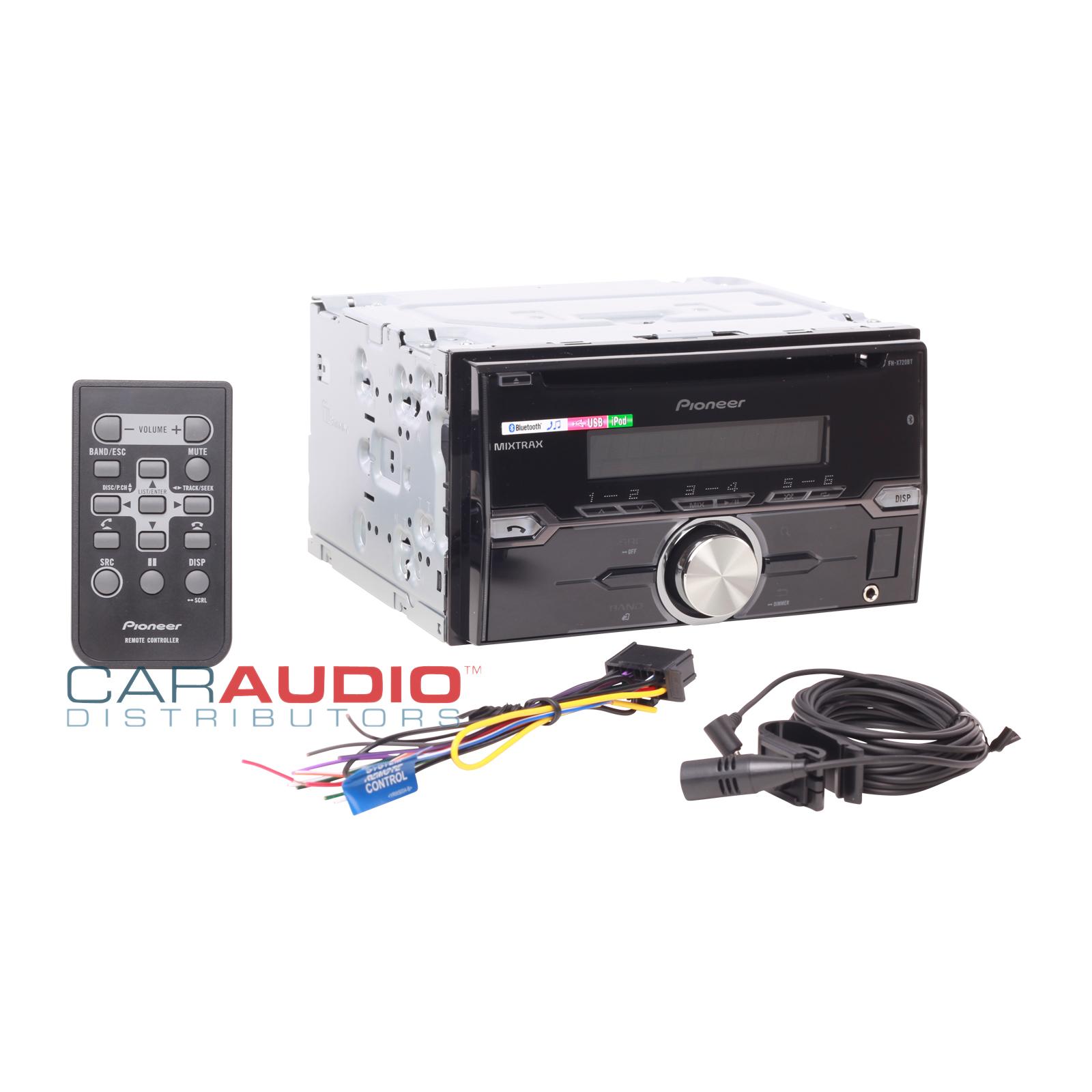 pioneer fh x720bt be nungsanleitung deutsch 2004 ford ranger wiring diagram new in dash car stereo double din cd mp3