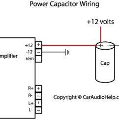 Wiring Diagram For Car Stereo Installation 3 Wire Trailer Light Audio Capacitor Png