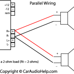 Basic Car Stereo Wiring Diagram 2006 Dodge Ram 1500 Factory Radio Ohm S Law In Audio Parallel Speaker