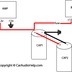 Car Capacitor Wiring Diagram Audio Volvo V70 1998 Installation Two Capacitors