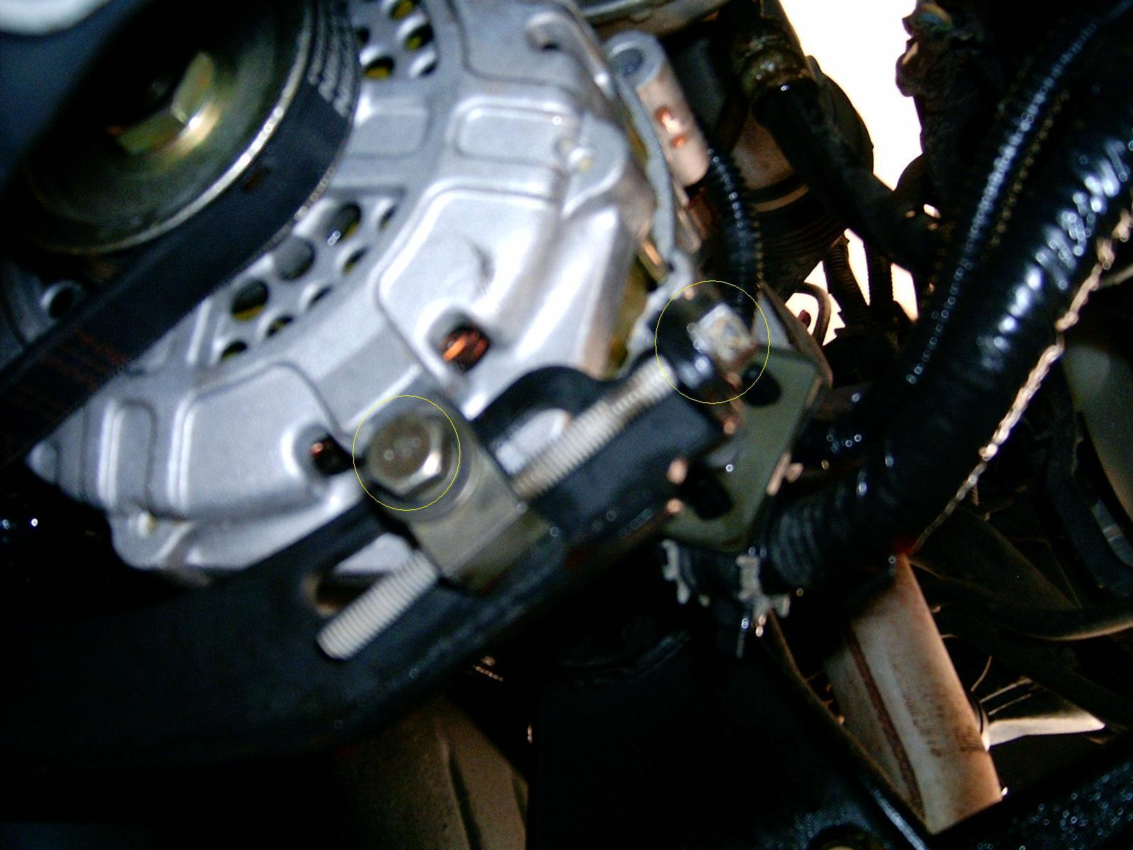 hight resolution of nissan maxima alternator bolt