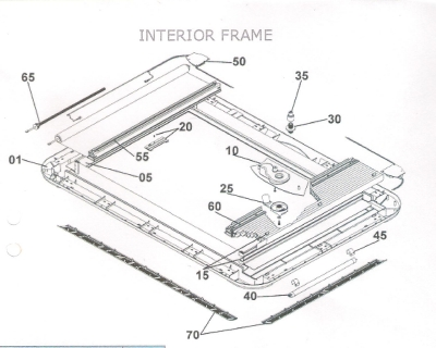 Heki 3 Rooflight Interior Frame Parts List & Drawing
