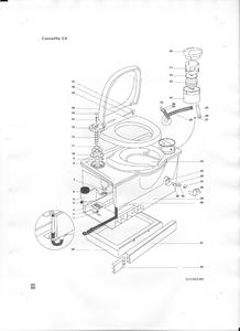 Thetford Manual Caravan Motorhome c4 Cassette Toilet
