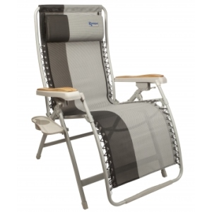 reclining camping chair with footrest as seen on tv cover kampa extravagance deluxe relaxer | luxury, extra-wide