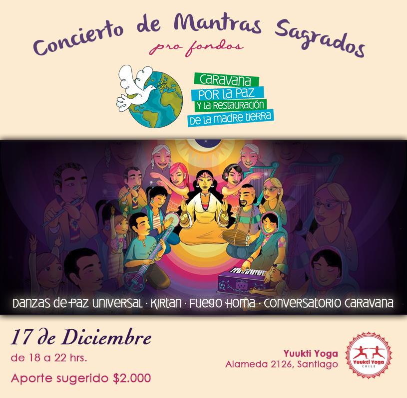 Concierto de Mantras Sagrados – 17 de Diciembre · Stgo.