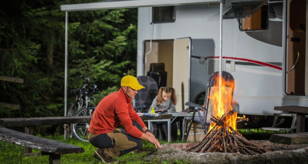 acampada en autocaravana