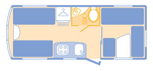 Bailey Ranger GT60 540 floorplan