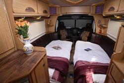 IH J220 motorhome beds