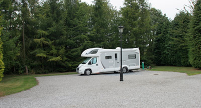 Large pitches for bigger motorhomes