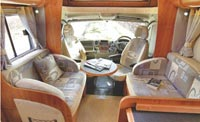 The living space of the new Auto-Trail