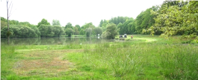 The picturesque lake beside the parc